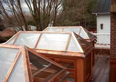 copper trimmed skylights