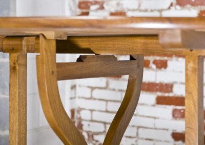 Solid wood French Wine table. Made from bleached walnut.
