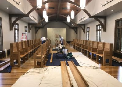 Pews for Holy Cross Abbey