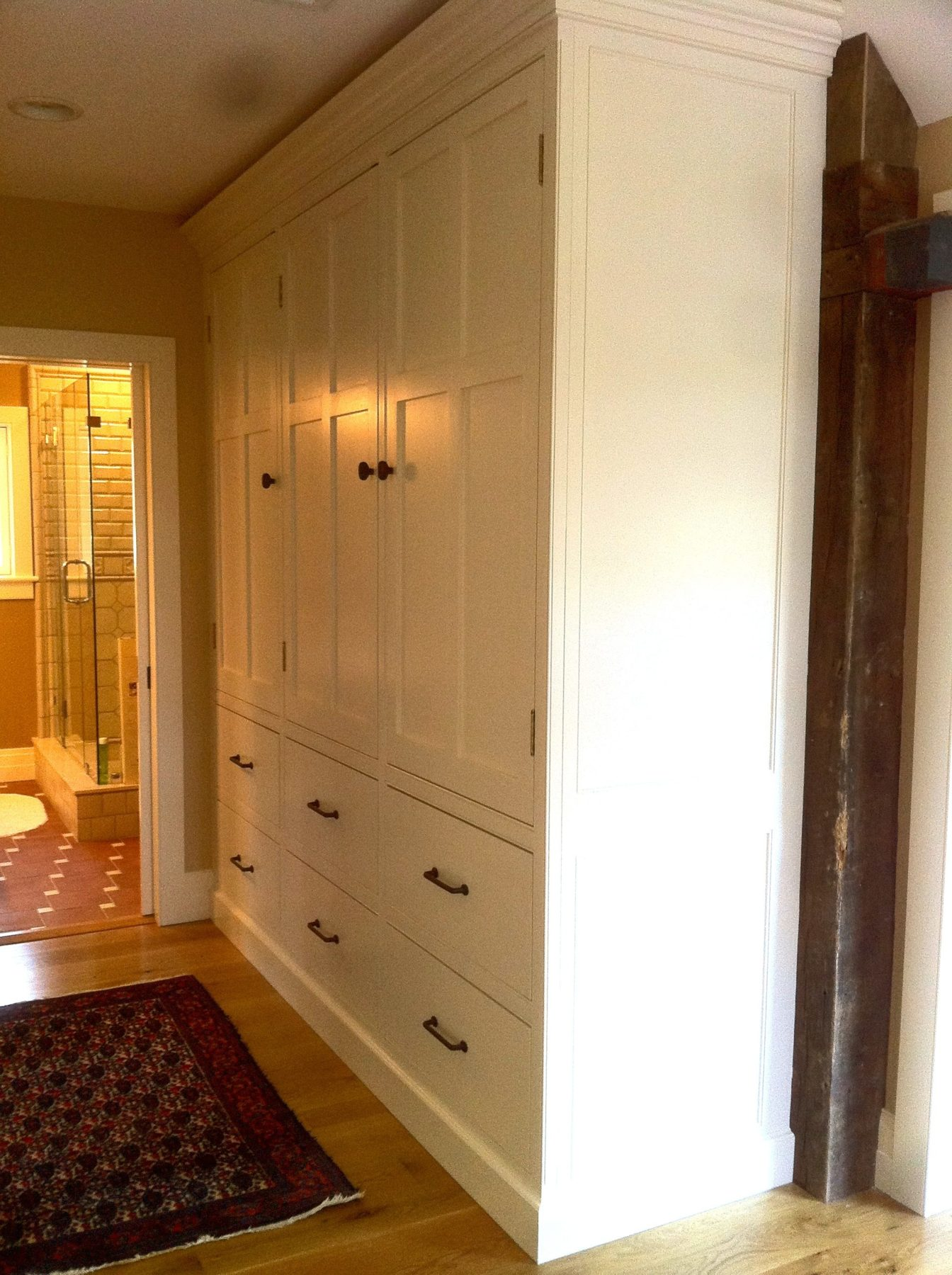 mudroom cupboards, custom cupboards