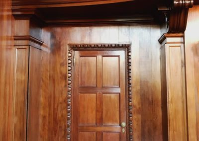 restoration of cypress wood panelling
